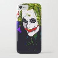 the joker iPhone & iPod Cases featuring joker by Saundra Myles