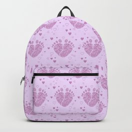 Baby feet background 4 Backpack