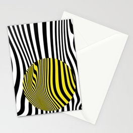 Yellow Circle Abstract Stationery Cards