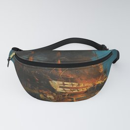 The Burning of a Turkish Frigate Fanny Pack
