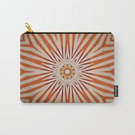 Ray of Light // Retro 70's Vintage Star Sun Rays Light Vibrant Red Orange Geometric Abstract Carry-All Pouch