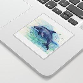 Dolphin Watercolor Sea Creature Animal Sticker