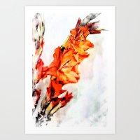 artsy Art Prints featuring gladioli Artsy by Artsy Arts By Rosanna.