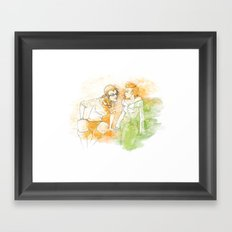 A Little Bit Of Flirting Framed Art Print