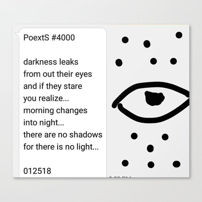 Poexts #4000 Canvas Print