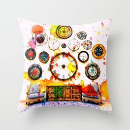 Time For Art Throw Pillow
