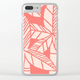 Tropical Palm Tree Composition Coral Clear iPhone Case