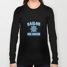 Sailor on Deck Long Sleeve T-shirt