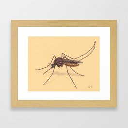 Mosquito by Lars Furtwaengler | Colored Pencil / Pastel Pencil | 2014 Framed Art Print