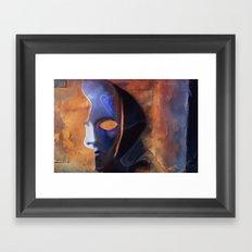 Disguise - pop surrealism, mask, phantom, face, half mask,  Framed Art Print