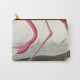American Flamingo   Pink Flamingo   Vintage Flamingo   Audubon   Birds of America   John James Audubon   Carry-All Pouch