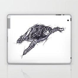 Sea Turtle Handmade Drawing, Art Sketch, Tartaruga Marina, Illustration Laptop & iPad Skin