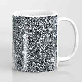 Paisley black and white pattern Coffee Mug