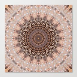 Mandala romantic pink Canvas Print