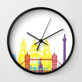 London skyline pop Wall Clock