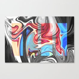 SNARL - BLACK Canvas Print