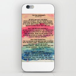 The Four Agreements 11 iPhone Skin