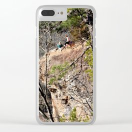 Climbing Up Sparrowhawk Mountain above the Illinois River, No. 4 of 8 Clear iPhone Case