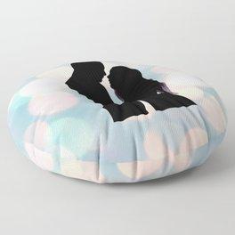 Couple in love Floor Pillow