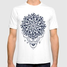 Dark Universe SMALL White Mens Fitted Tee