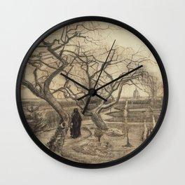 Vincent van Gogh : Winter Garden 1884 Wall Clock