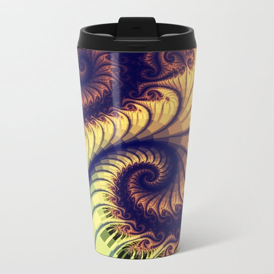 Abstract spirals and patterns Metal Travel Mug