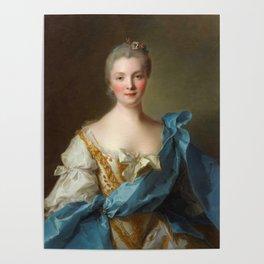 Madam de La Porte Portrait by Jean - Marc Nattier Poster