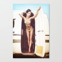 trailer park boys Canvas Prints featuring trailer park girl by six inch stiletto