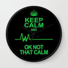 Keep Calm Wall Clock