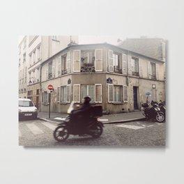 Paris Moto Metal Print