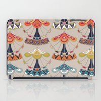 damask iPad Cases featuring carousel damask by Sharon Turner