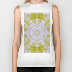 Green and white quilt kaleidoscope Biker Tank