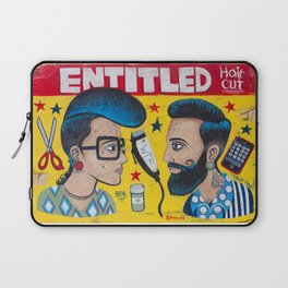 Entitled Haircuts Laptop Sleeve