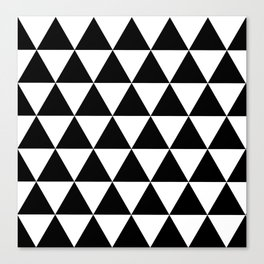 Black and white triangles Canvas Print