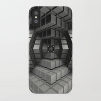 cyberpunk iPhone & iPod Cases featuring Time vs. Monolith by Obvious Warrior