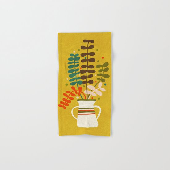Potted Leaves Hand & Bath Towel