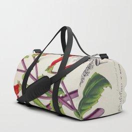 Penstemon Baccharifolius Vintage Botanical Floral Flower Plant Scientific Duffle Bag