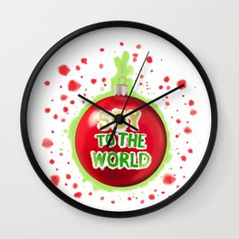 Soy to the World Wall Clock