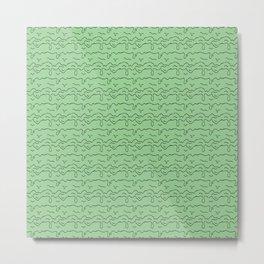 Slime Time Pattern - Green Metal Print