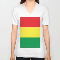 rasta V-neck T-shirts featuring IRIE RASTA  by ivibes