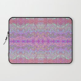 Pink Ice Abstract Watercolor Laptop Sleeve