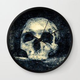 Old Skull - Memento Halloween Wall Clock