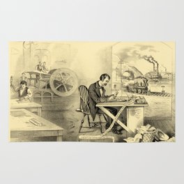 The Progress of the Century (Currier & Ives) Rug