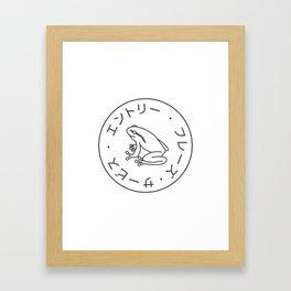 Frog Society Framed Art Print