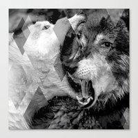 wolves Canvas Prints featuring Wolves by Ricca Design Co.