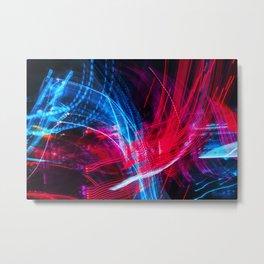 Neon Abstract Metal Print