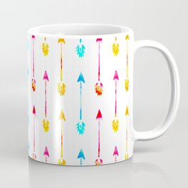 Multi Colored Tiny Arrows Pattern Coffee Mug