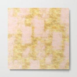 Blush Pink Gold Grunge Metal Print