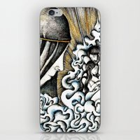 valar morghulis iPhone & iPod Skins featuring Second meeting by Anca Chelaru
