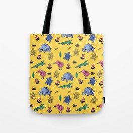 Cute Wild Animals Pattern Tote Bag